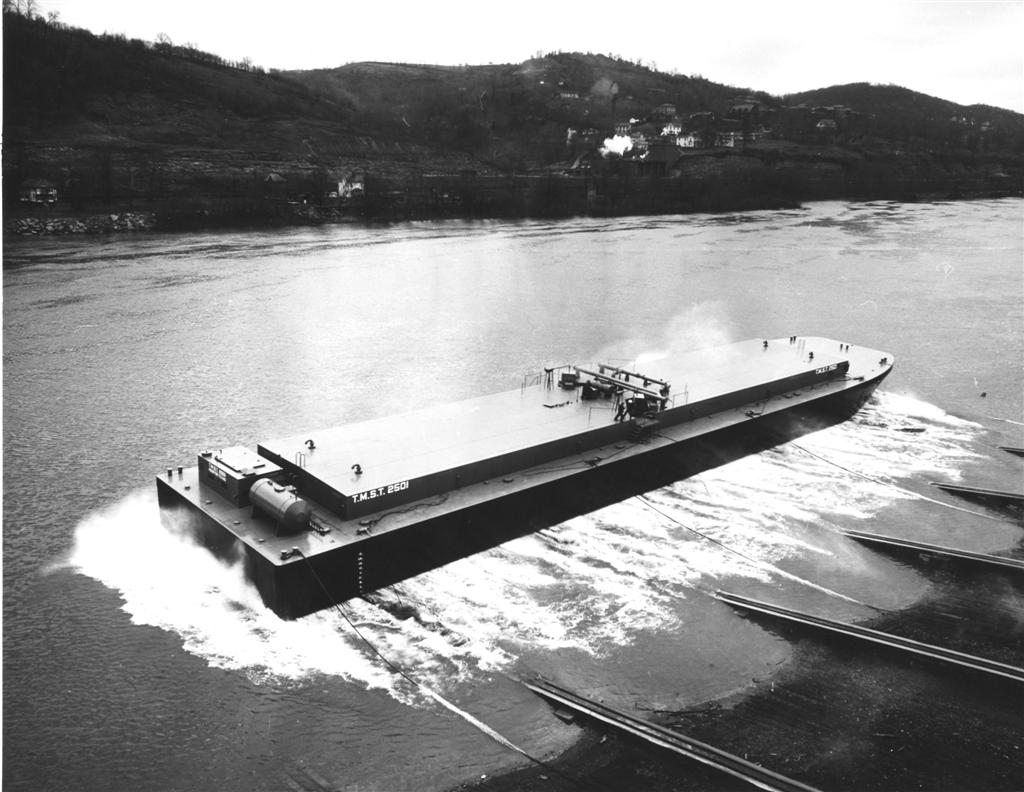 Liquid sulphur barge  - Photo Courtesy of Boat Photo Museum, Dan Owen