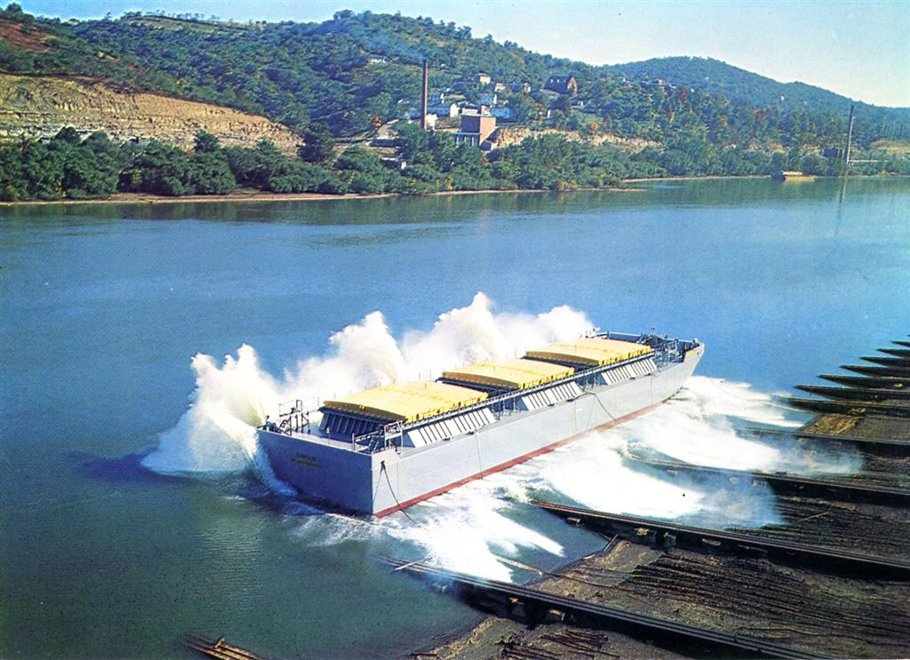 Ocean going dry cargo barge  - Photo Courtesy of Boat Photo Museum, Dan Owen