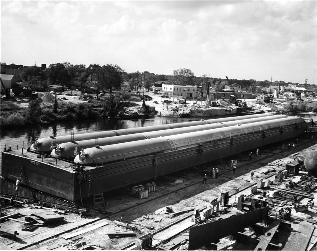 Propane barge, 290 ft long  - Photo Courtesy of Boat Photo Museum, Dan Owen